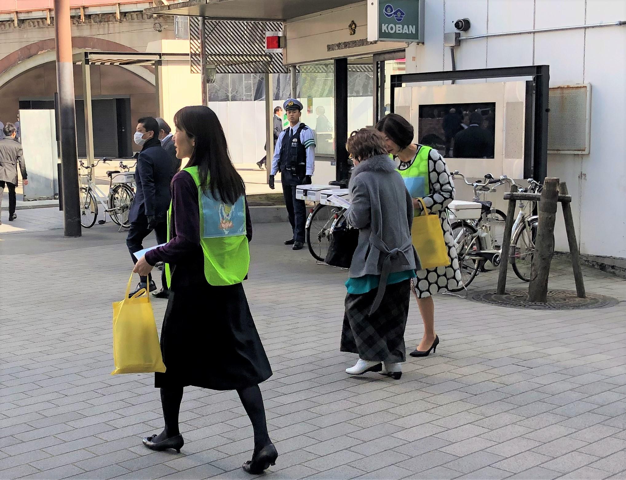 【街頭税務広報】2月 田町駅・新橋駅